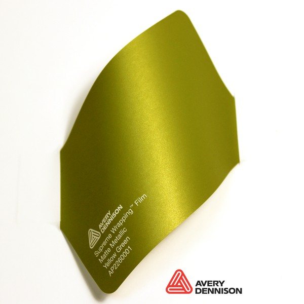 Avery Dennison - Matte Metallic Yellow Green AP260001