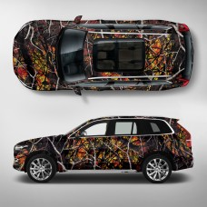 Плёнка камуфляж - Огненый лес А026